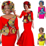 New African Skirt Set For Woman Skirt Set Women Dashiki New Elegant 2 X11033