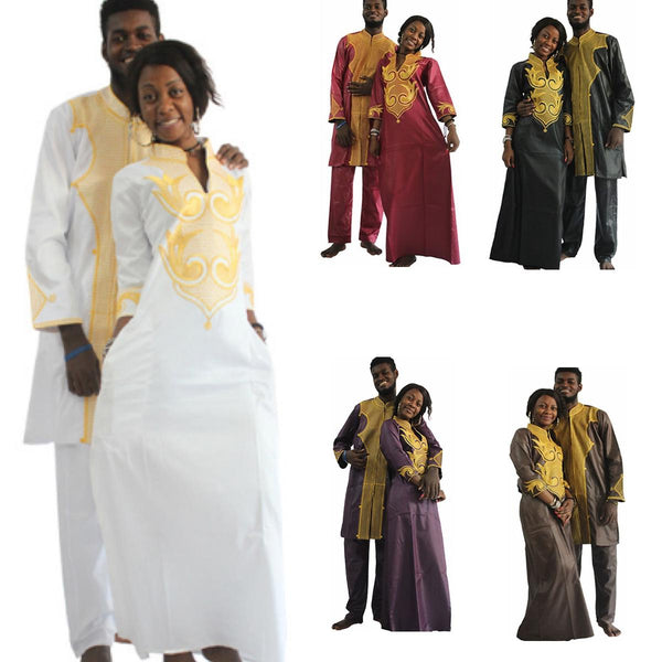 Dashiki African Couple Dress Clothing For Men and Women Friends Get V21622