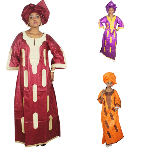 African Dashiki Clothing For Women Bazin Riche Embroidery Design Long X21292
