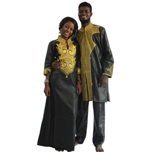 African Clothing For Couple Man and Woman Embroidery Style Same V21621