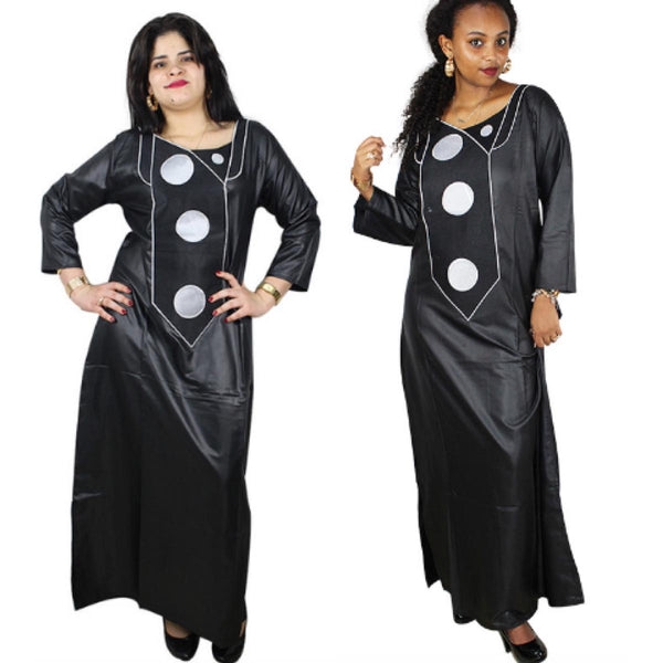African Clothing Women Dashiki Bazin Traditional Dashiki Black Dress X21178