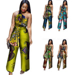African Cotton Wax Print Romper Sexy Jumpsuit For Women Dashiki X11540