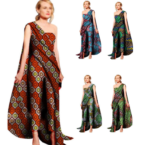 African Clothing For Women Kitenge Cotton Wax Print Sexy Romper X11543