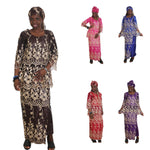 African Cloth For Women Ebroidery Beading Lace Bazin Riche Dress X20929