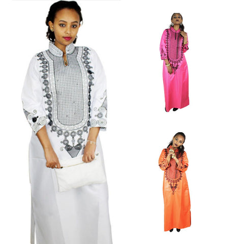 African Clothing For Woman Embroidery Design Soft Material Dress without X21170