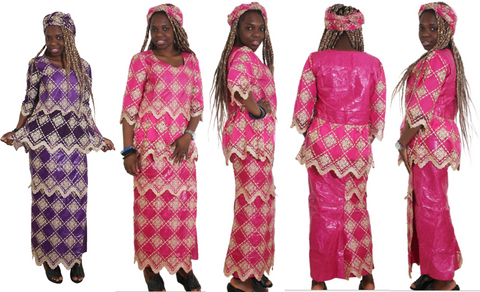 African Kaftan African Head Wraps Dashiki For Women Dress Bazin Riche X20960
