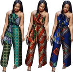 New Arriving Africa Cotton Wax Print Romper African Bazin Riche Sexy X11563