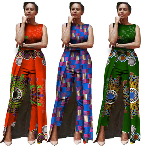 Jumpsuit Women Fashion Bodysuit Africa Traditional Clothing X11559