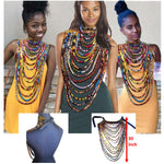 African Print Accessories Necklace Shawl earrings 100% Ankara cotton Wax Fabric