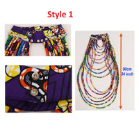 African Ankara Necklace Wax Print Fabric Colorful Necklace Shawl Q11753