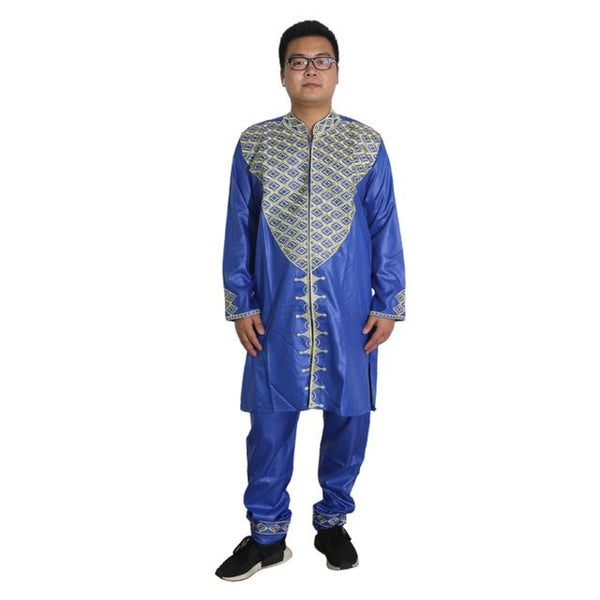 Africa Dresses For Men Dashiki Mens Clothes Bazin Riche African Clothing Ropa Africana Hombre Two 2