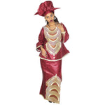 African Bazin Riche Embroidery Design Dress Dresses For Womennn