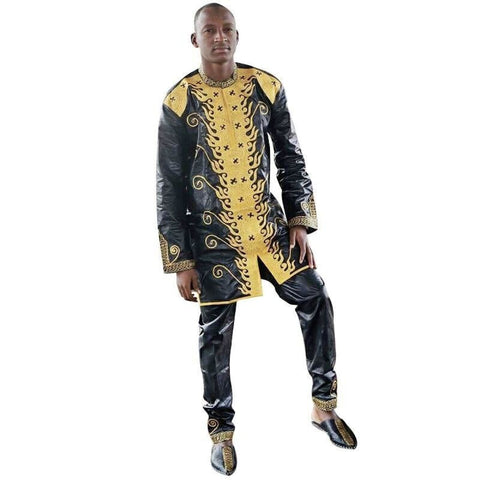 African Clothes Dashiki Traditional Mens African Clothing Long Sleeves African Bazin Richee