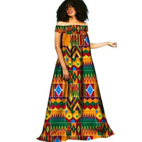 African Clothing Dashiki Bazin Riche Maxi Dress Boho Robe Femme Gown Style Long Dress For Women