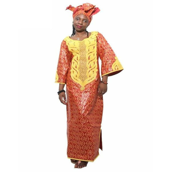 African Clothing Embroidered Bazin Custom Clothing Dashiki Women Design. Many Styles/color - Pink / L