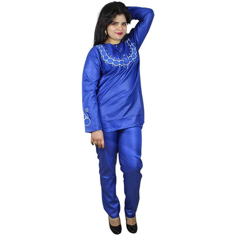 African Clothing Fashion Design For Ladies Shirt And Pants Soft Material