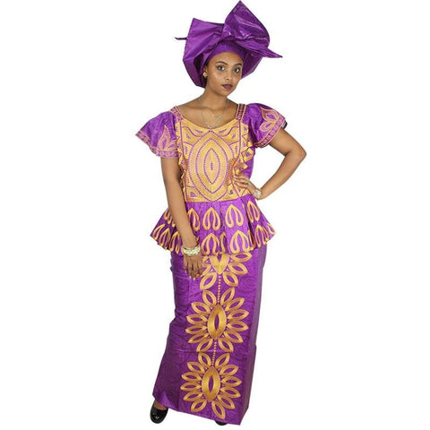 African Dresses For Woman Dashiki Design Dress Bazin Riche Embroidery Design Dress Long Dress Dp15#
