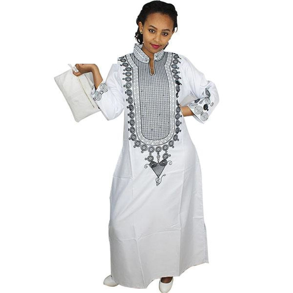e79bbeb20cf African Dresses For Woman Not Bazin Riche Soft Material Embroidery Design  Dress Without Scarf - White