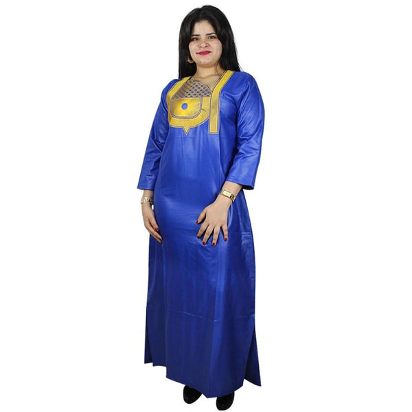 African Dresses For Women 2018 Fashion Dashiki Dresses Bazin Riche Traditional Clothing Long Sleeve