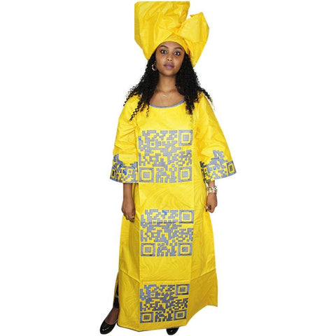 African Dresses For Women Bazin Riche Embroidery Design Dresss