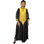 African Dresses For Women Dashiki Embroidery Design Dress Long Soft Material La079#