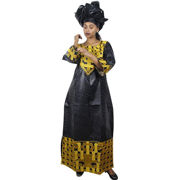 Embroidered 100% cotton African Kaftan Long Dress  X21235