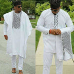 Limited Edition 3Pc Dashiki Bazin Robe with Inner-Suit and Y20782