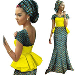 African Dresses For Women Vestidos Kanga Clothing Dashiki Wax  X11452