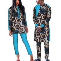 Dashiki African Wax Matching Top and Pants Set for V11642