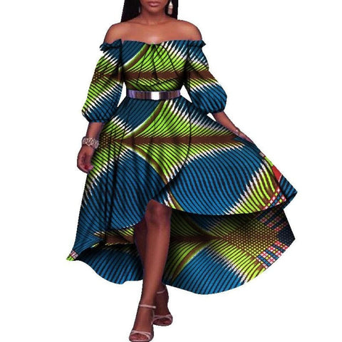 African Dresses For Women Half Lantern Sleeve Party Dresses Plus Size X11429