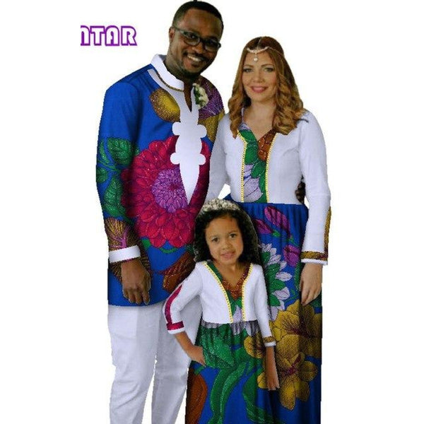 Africa Family Matching Clothing for Father Mother and V11582