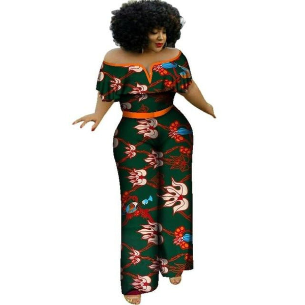 African Print Jumpsuit For Women Cotton Print Kitenge Ankara Vestido X11496