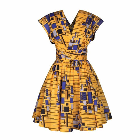 African Clothing Dresses For Women Dashiki Peacock Sexy Multifuntional X11089
