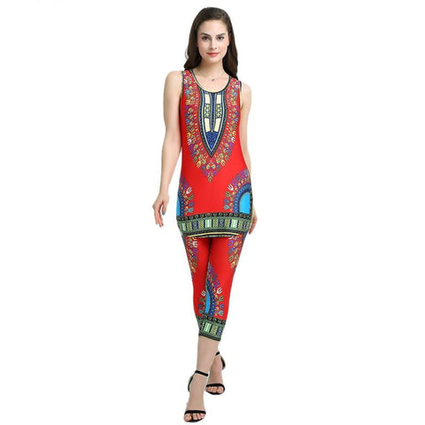 Dashiki Dress Women Sexy Bohemian Robe Femme Africa P X40251