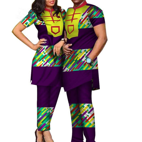 African Clothing Ankara Batik Top-Pants Sets for V11664