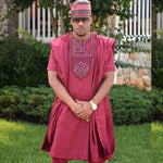 3 piece embroidered african clothing dashiki pants shirt outer Y20781