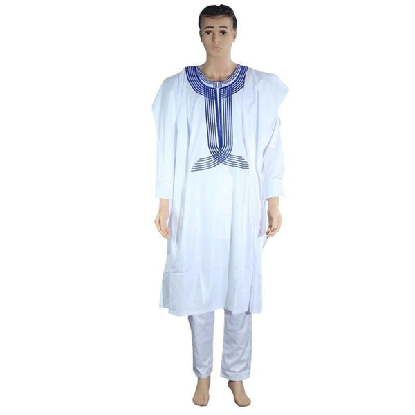 African men Agbada clothing 3 pieces embroidered Y20777