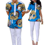 African Clothing 100% Cotton 2Pc Top-Pants Patchwork Ankara Dashiki For V11650
