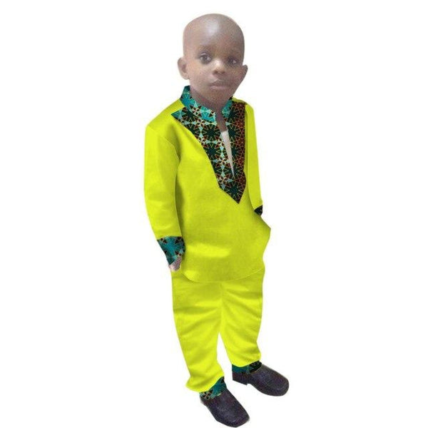 2017 Boys Clothes African Dashiki Kids Clothing LongoingSleeves Plus W11716