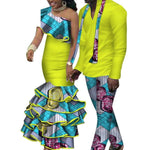 African Matching Clothing For Couple Man Woman Cotton Print Send Your V11674
