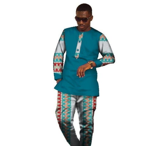 African Brand Clothing Mens Custom Shirt Long Sleeve Dashik Tops Long Y10841