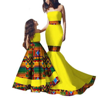 African Family Dashiki Matching Dress for Mother and V11580