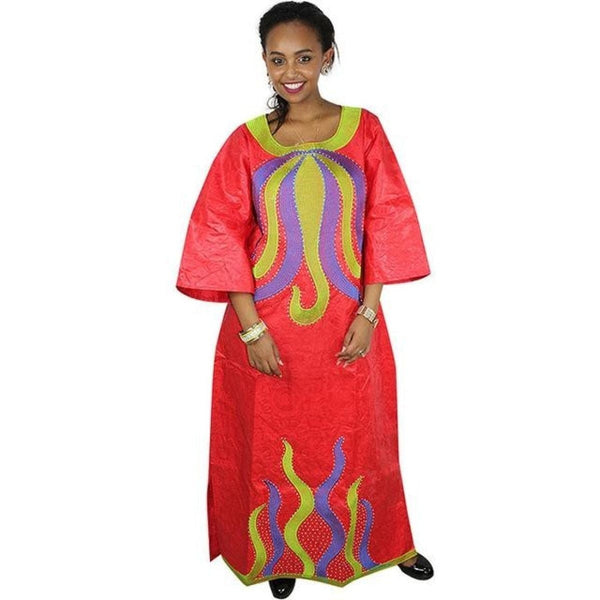 African Women Clothing100% Cotton Traditional Embroidery Dashiki  X21263