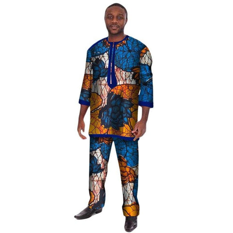 Traditional Africa Clothing For Men Custom 3/4 Sleeve T-Shirt Y10843