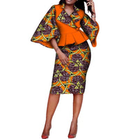 top-skirt set dashiki africa dresses for X11083