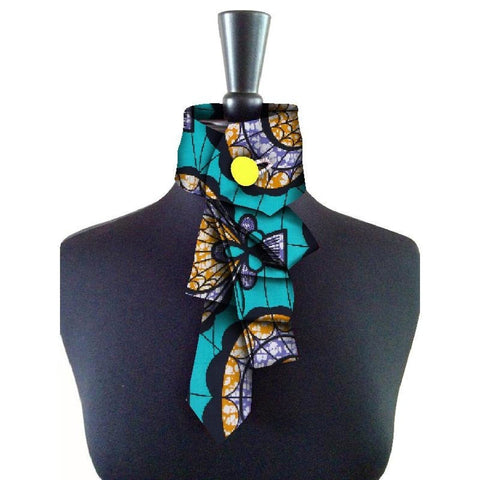 African New False Collar For Women and Bowknot Colorful Detachable Q11756