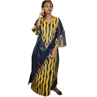 African Clothing For Women New Bazin Embroidery Design Long Dress  X21267