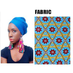 African Fabric Drop-Earrings For Women Handmade Jewelry Ankara with Q11776