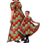 African Family Matching Clothing for Mother and V11583