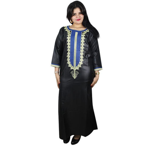 african Kaftan embroidered Long Dress for X21151